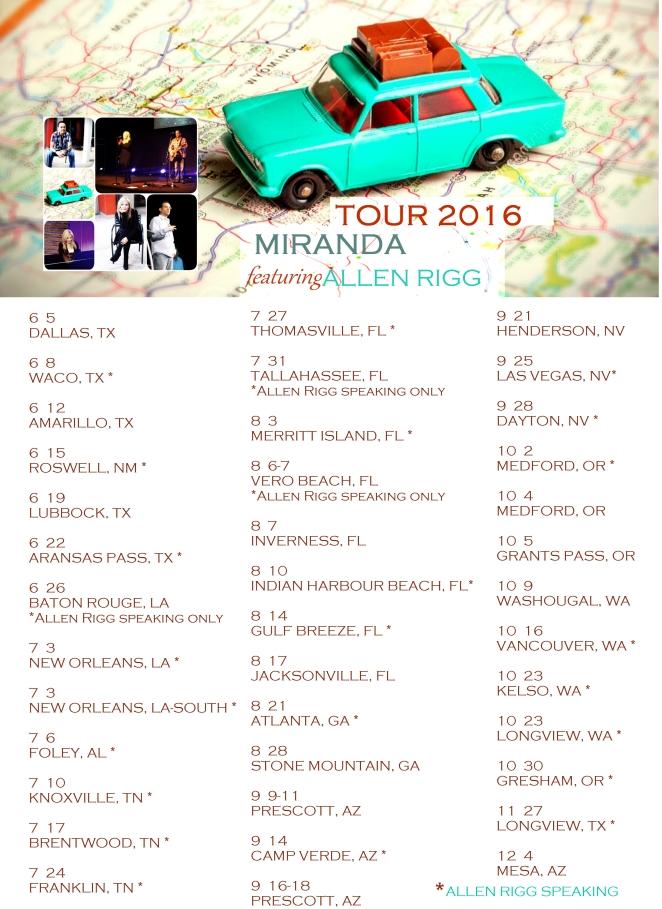 tour poster 2016 car
